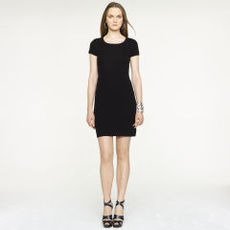 Short-Sleeved Cashmere Dress