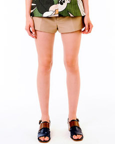 Khaki Button-Front Shorts   Khaki Button-Front Shorts