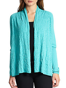 Lafayette 148 New York Tribal-Stitch Open Cardigan