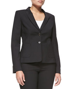 Escada Two-Button Blazer, Black, Women's
