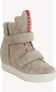 Prada Linea Rossa Double-strap Hidden-wedge Sneakers