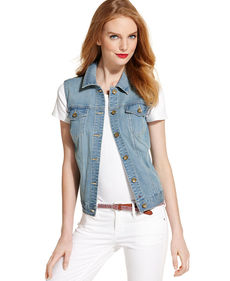 Tommy Hilfiger Classic Light-Wash Denim Vest