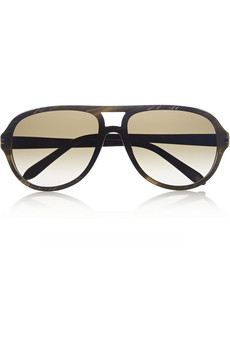Givenchy Aviator-style acetate sunglasses