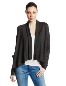 Kensie Women's Drapey French Terry Cardigan