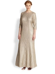 Kay Unger, Sizes 14-24 Lace Gown
