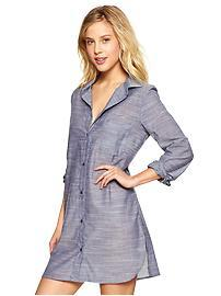 Chambray nighshirt