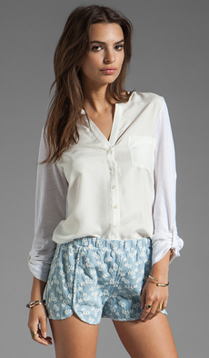 Soft Joie Evaine Button Down Top in White