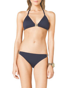 Triangle Bikini Top with Hardware   Triangle Bikini Top with Hardware