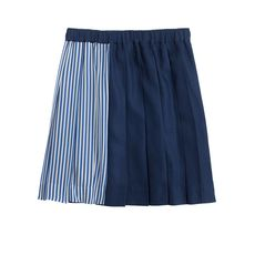 Collection stripe mix skirt