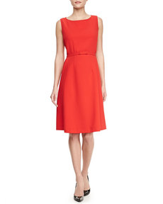 Lafayette 148 New York Hepburn Self-Belt Dress