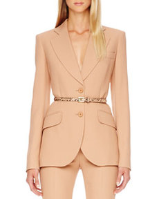 Michael Kors Two-Button Crepe Blazer