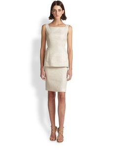Teri Jon Mock Two-Piece Cocktail Dress