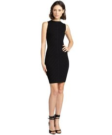 Marc New York black stretchy pointelle knit sleeveless dress