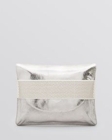 Badgley Mischka Clutch- Jennifer Metallic Crackle Crinkle