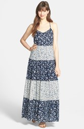 Lucky Brand Print Tiered Maxi Dress