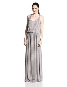 Michael Stars Women's Highline Stripe Blouson Maxi Dress
