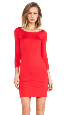 Rachel Pally Jersey 3/4 Sleeve Bianca Dress in Red