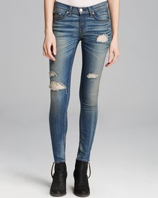 rag & bone/JEAN Jeans - The Skinny in Crochet Lace