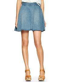 1969 denim circle skirt