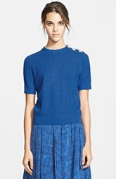 MARC JACOBS Short Sleeve Jewel Button Sweater