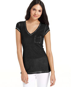 Calvin Klein Jeans Short-Sleeve V-Neck Pocket Tee