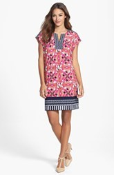 Laundry by Shelli Segal Print Extended Shoulder Shift Dress (Petite) (Petite)