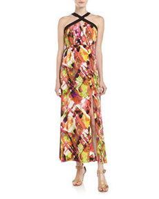 Marc New York by Andrew Marc Printed Halter Maxi Dress, Multi