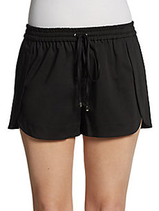 Robert Rodriguez Coated-Cotton Track Shorts