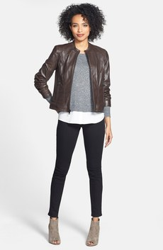 Marc New York by Andrew Marc Leather Jacket, kensie Sweater & NYDJ Jeans