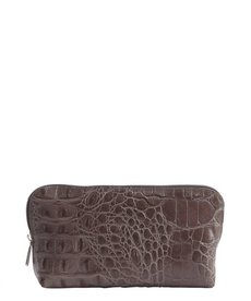 Furla lead croc embossed leather zip case