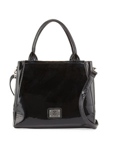 Christian Lacroix Louise Patent Frame Satchel Bag, Black