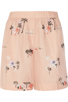 J.Crew Vacationland printed silk shorts