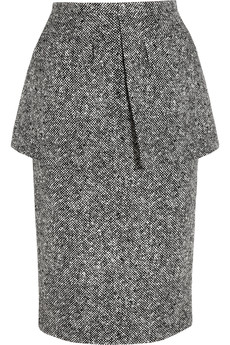 Michael Kors Wool-tweed peplum skirt