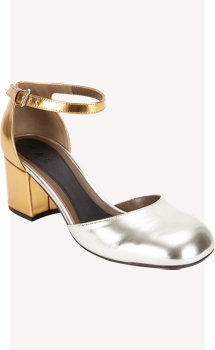 Marni Metallic Mary Jane Sandals