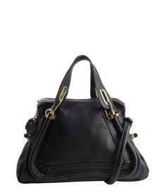 Chloe black leather 'Paraty' convertible satchel