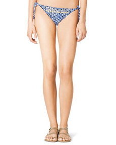 MICHAEL Michael Kors Tie-Side Beaded Swim Bottom