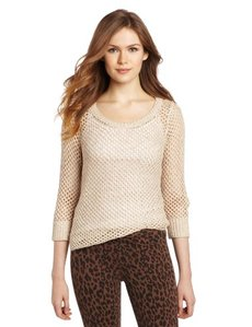 Kensie Women's Two-Tone Slub Knit Sweater