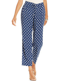 Charter Club Printed Drawstring Soft Pants