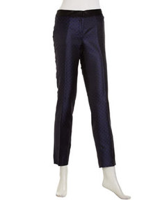Laundry by Shelli Segal Pattern Slim Ankle Pants, Blue/Black