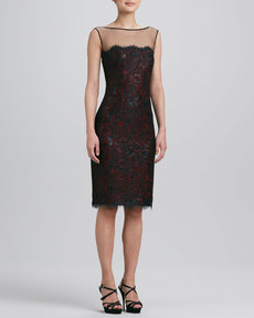 Tadashi Shoji Sleeveless Lace Cocktail Dress