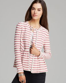 Free People Jacket - Striped Peplum