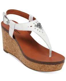 Lucky Brand Women's Narnie Platform Wedge Thong Sandals
