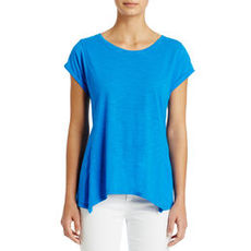 Short Sleeve Tee Shirt with Open Neck
