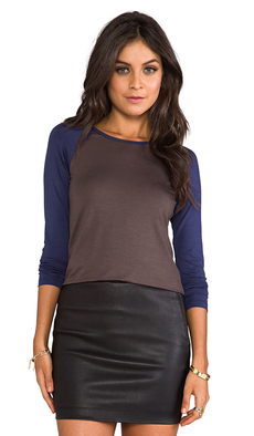Trina Turk Must Have Jersey Dacey Top in Brown