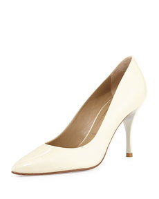 Donald J Pliner Brave Patent Leather Pump, Bone