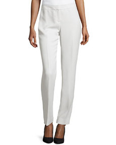 Lafayette 148 New York Noveau Straight-Leg Crepe Pants, Vapor