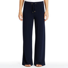 Navy Casual Pants with Drawstring