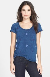 Lucky Brand 'Indigo Diamond' Scoop Neck Tee
