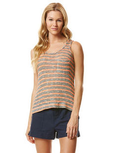 mini stripe loose knit pocket tank