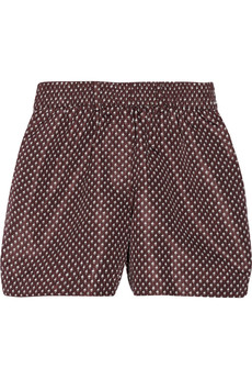 Burberry Prorsum Printed silk-faille shorts